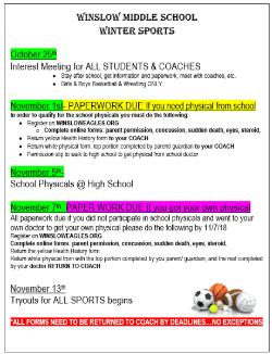 Winter Sports - Tryouts