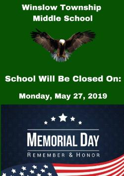 Memorial Day (School Closed)